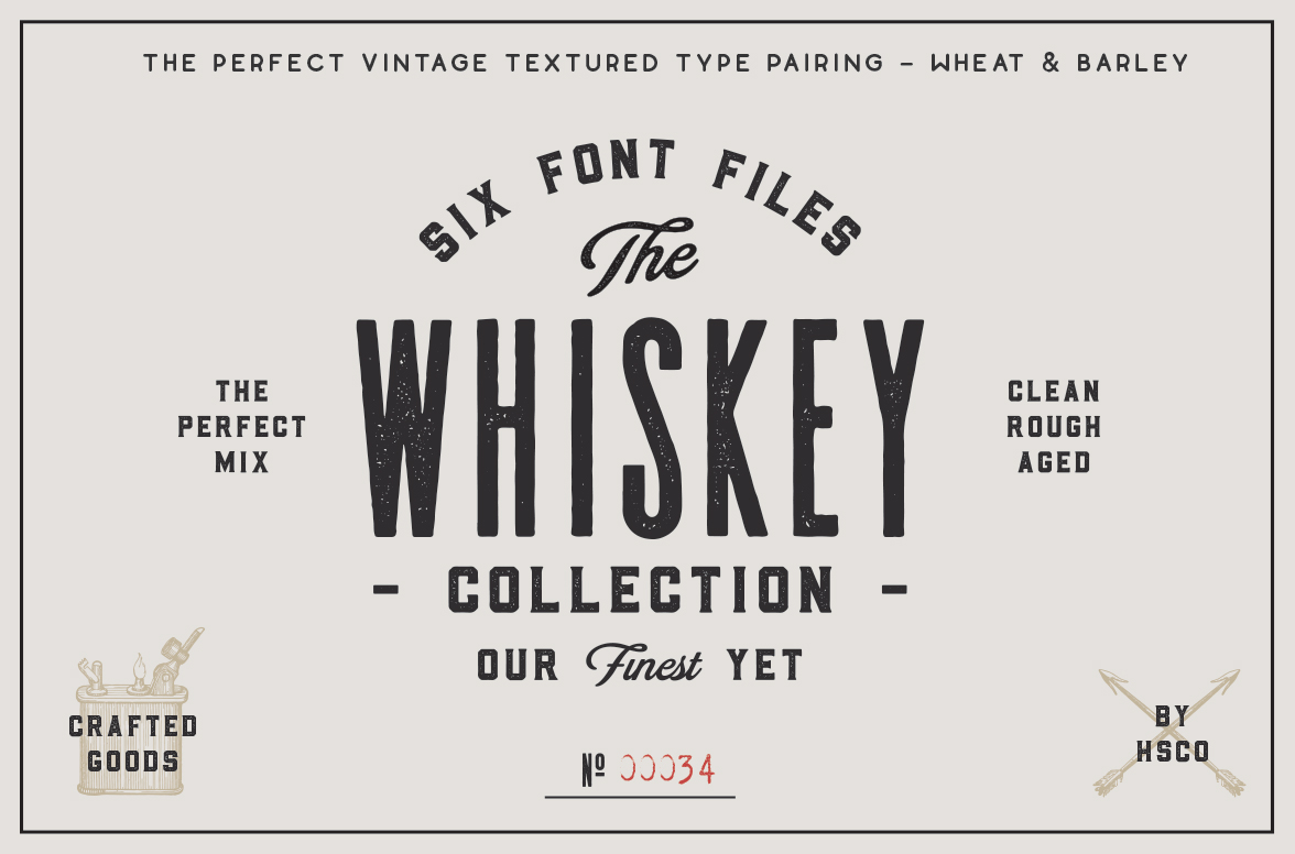 Font Friday: The Whiskey font collection