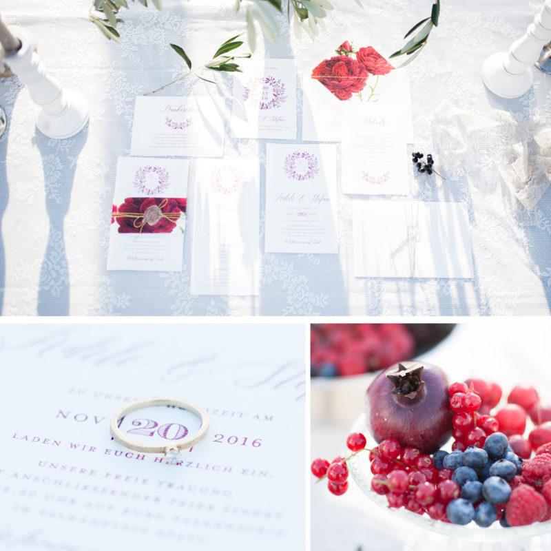 Büttenpapier Hochzeitseinladung Herbst Hochzeit