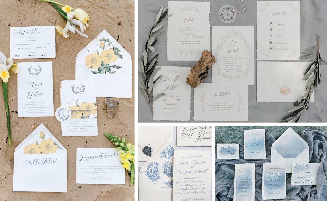 Bonjour Paper Hochzeitseinladung Büttenpapier