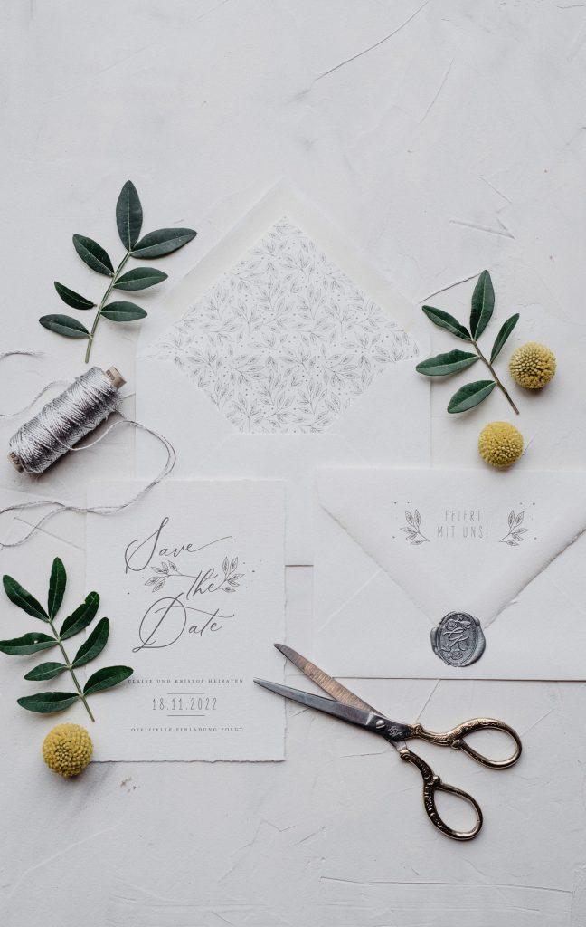 Hochzeitseinladung büttenpapier