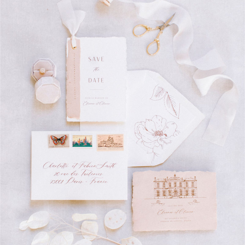 wedding stationery chateau de villette france