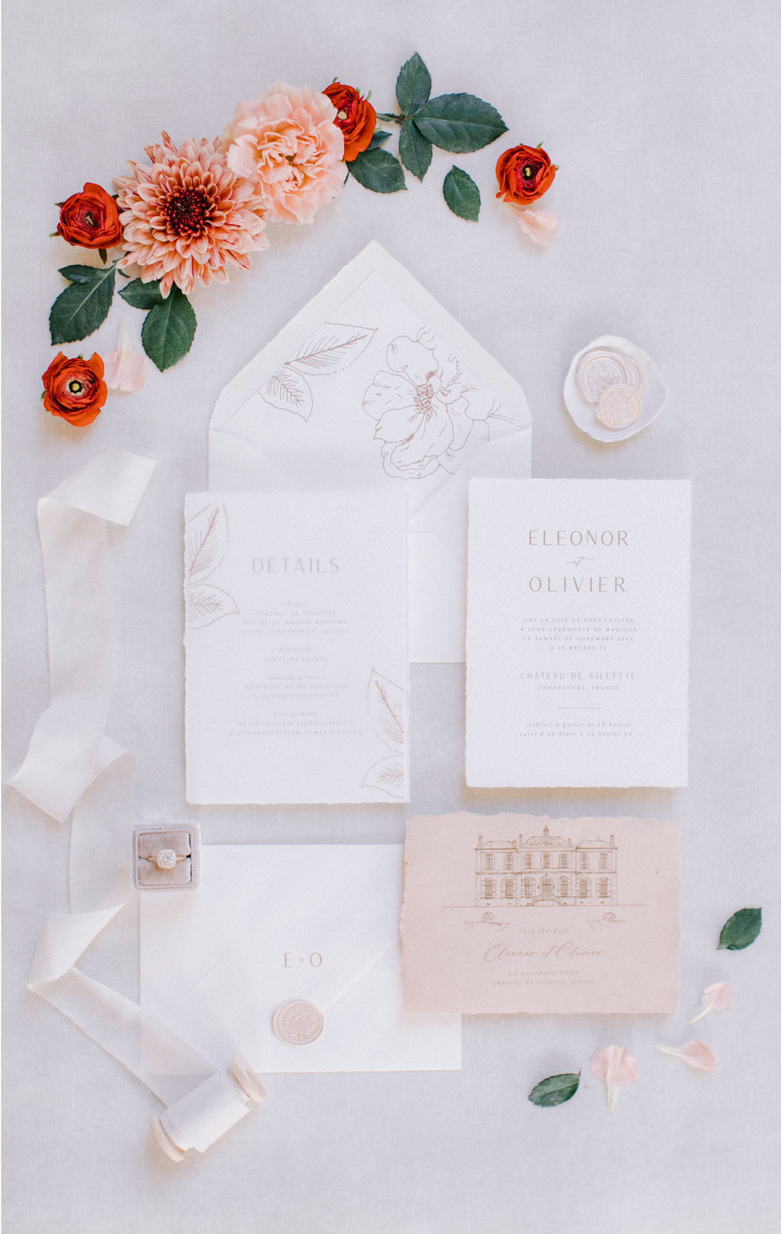 wedding stationery chateau de villette