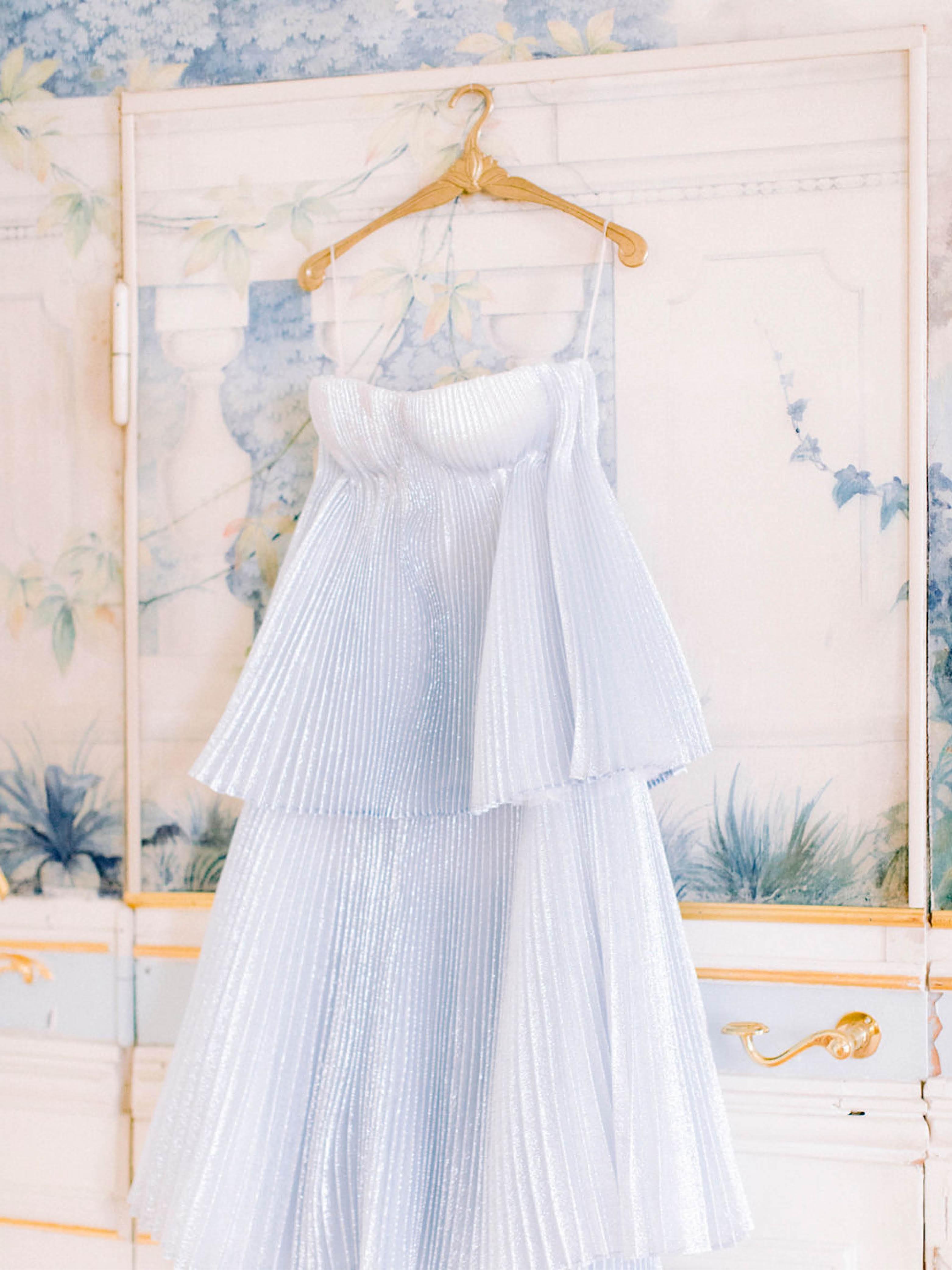 blue wedding dress Katherine Tash Bridal