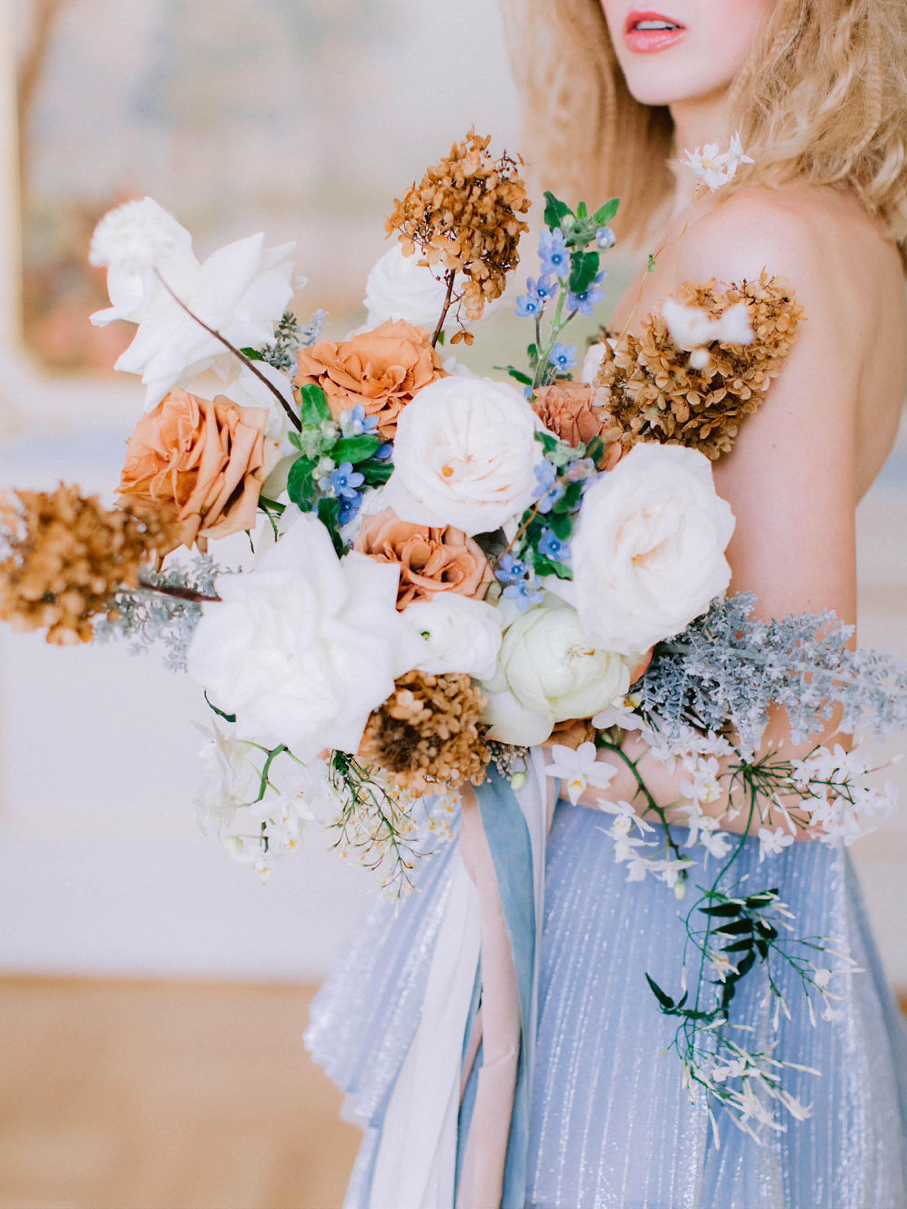 Brautstrauss Blau