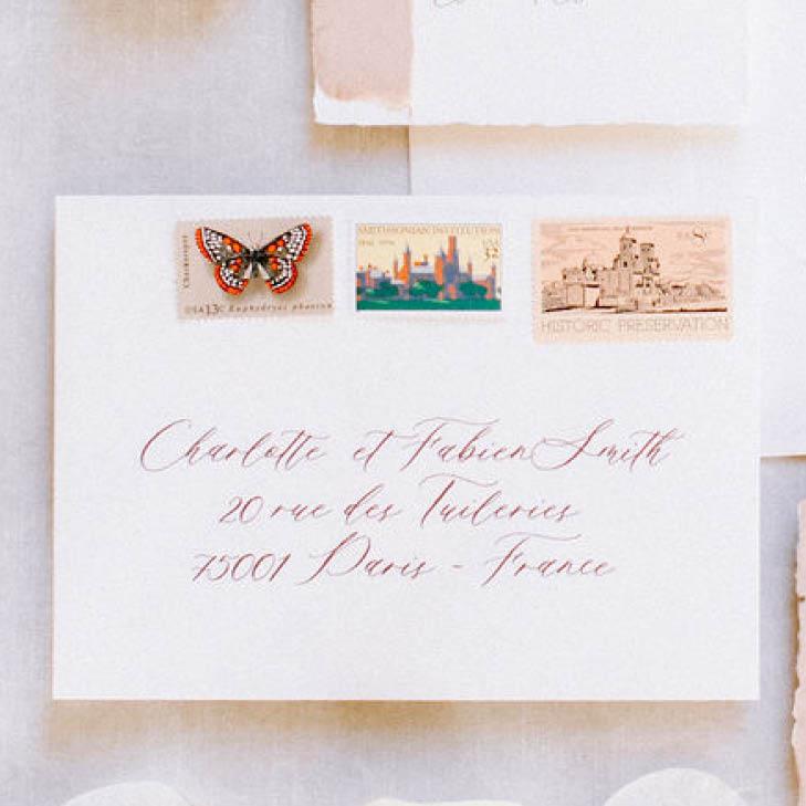 Adressierung Kuvert Hochzeitspapeterie