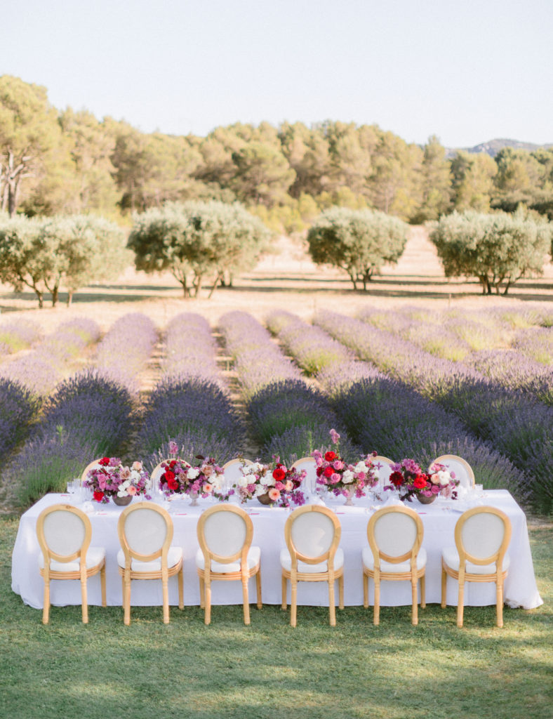 table de mariage champs de lavande ideas for a wedding in provence