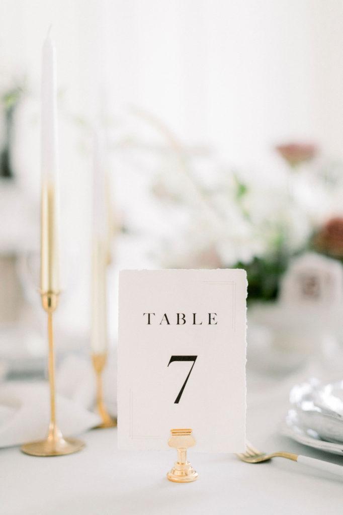 Bonjour Paper Tischkarte Hochzeit