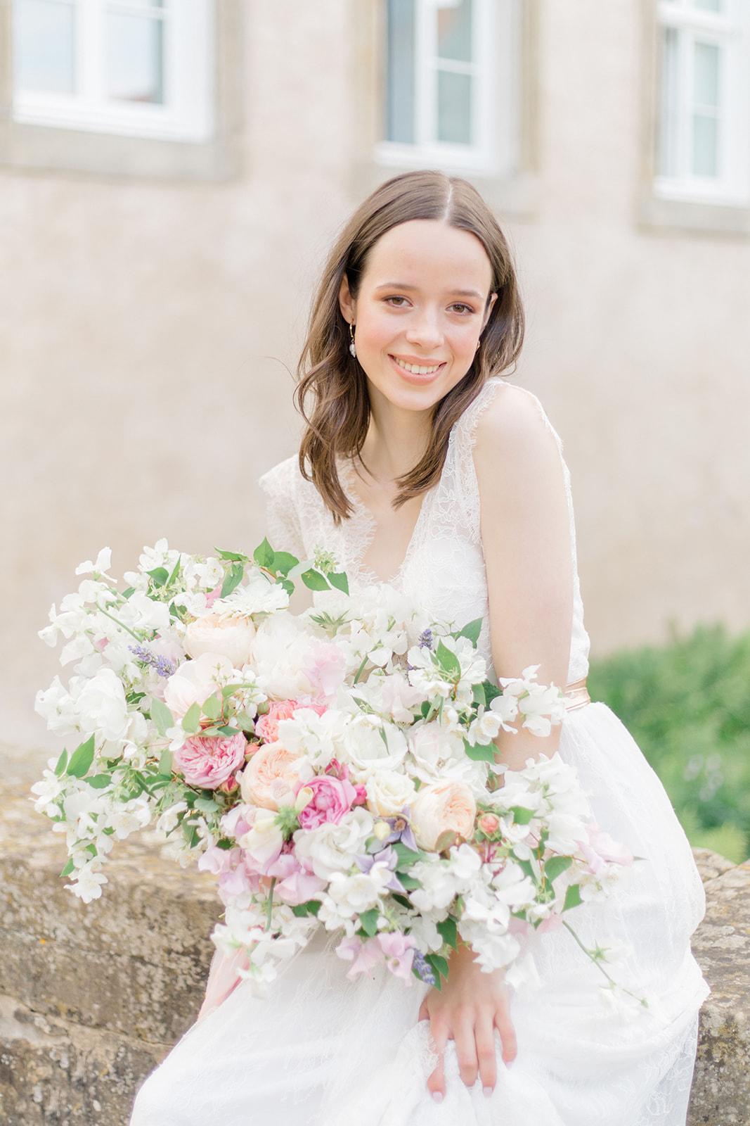 Wedding Inspiration in Castle Von Hammerstein in Germany lush wedding bouquet